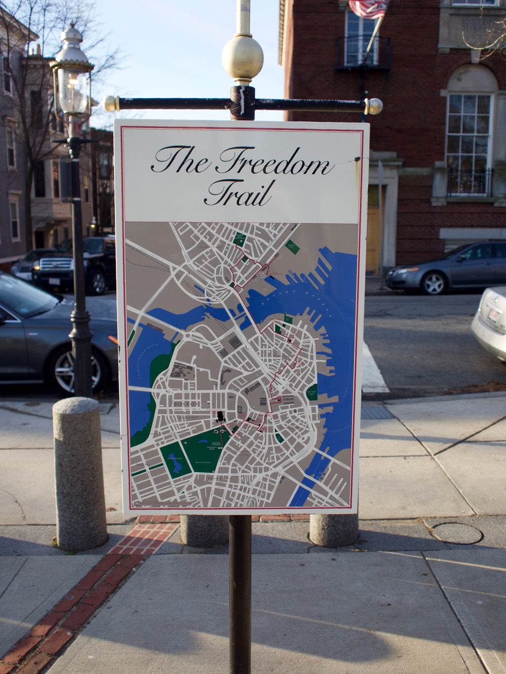 IRL Freedom Trail Map Signage Detail
